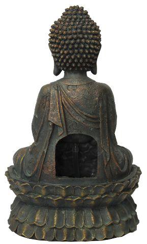 Fonte de Água Buda com Flor de Lótus Grande (37cm)