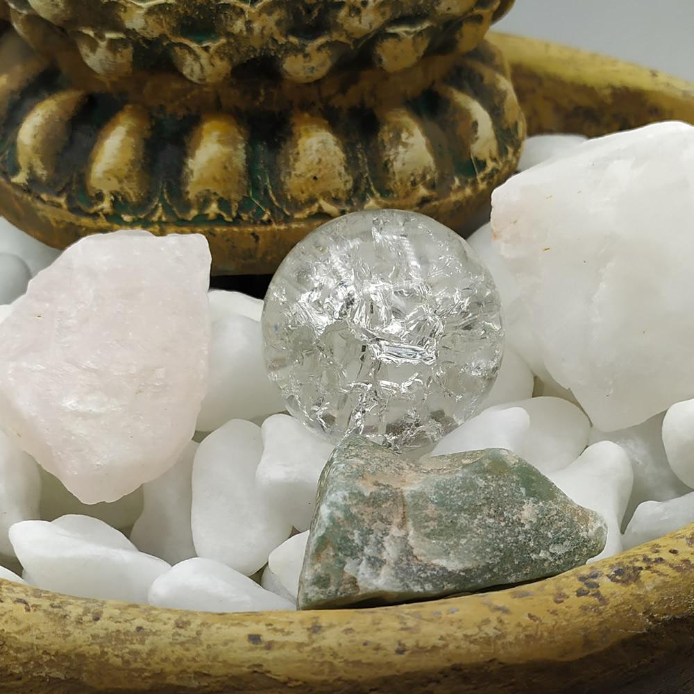 Fonte de Água Buda da Medicina com Pedras de Quartzo (33cm)