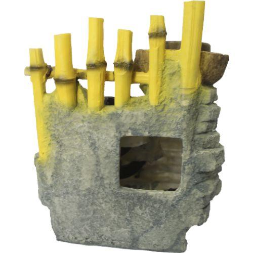 Fonte de Água Cerca de Bambus com Rodas D'água (28cm)