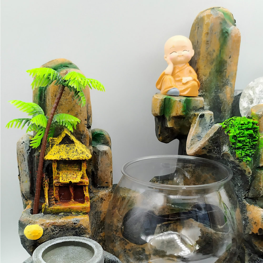 Fonte de Água com Aquário, Esfera e Monge da Sabedoria