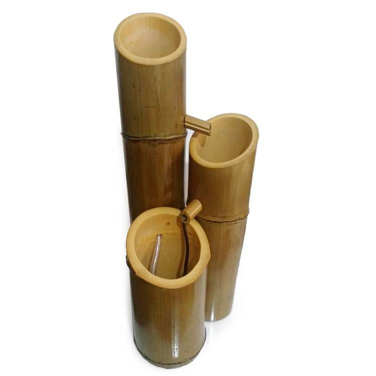 Fonte de Água em Bambu com 2 Quedas (30cm)