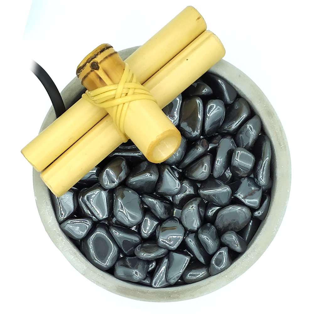 Fonte de Água em Cimento com Hematita (13cm)
