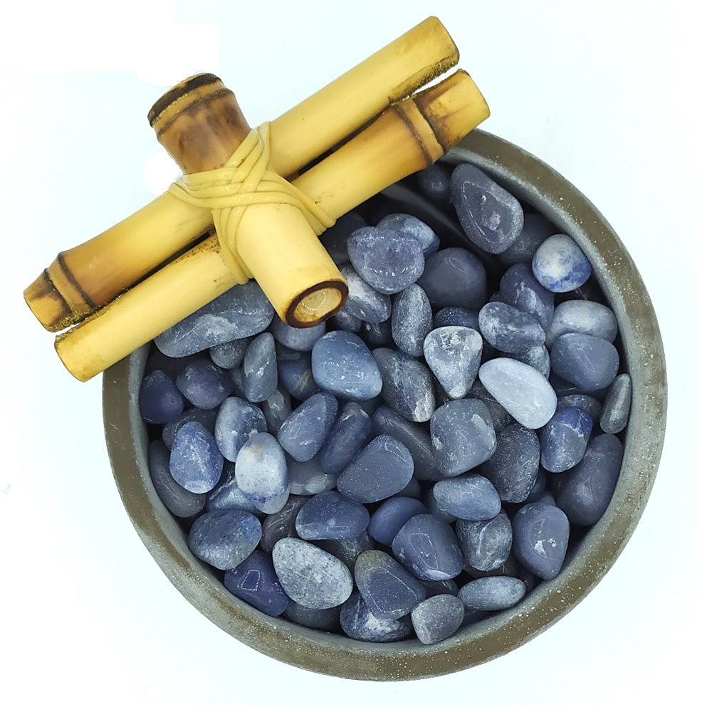 Fonte de Água em Cimento com Quartzo Azul (13cm)