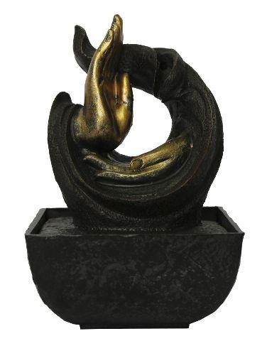 Fonte de Água Mãos de Buda (19cm)
