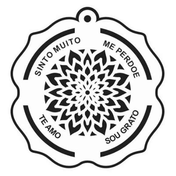 Gargantilha Mandala Hoponopono com Corrente