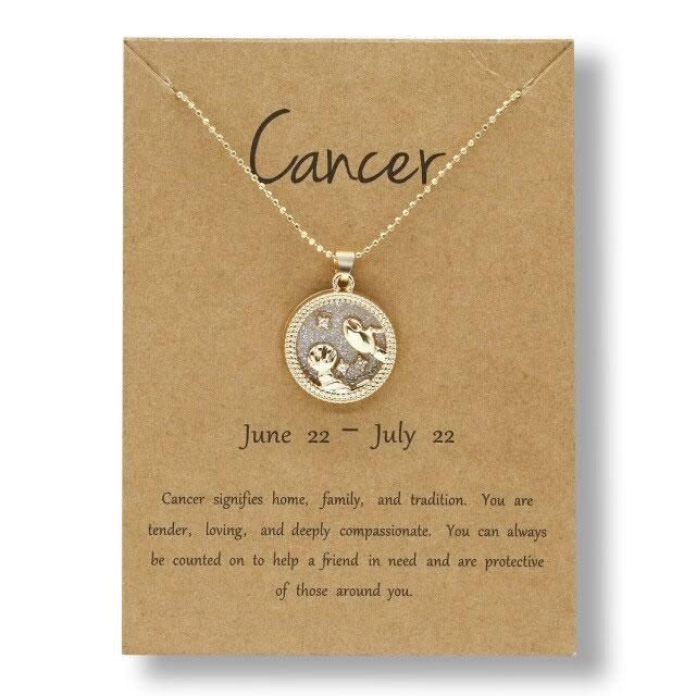 Gargantilha Signos Constelações Redonda: Câncer