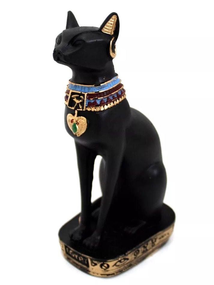 Gato Egípcio Bastet (19cm) Deusa da Fertilidade
