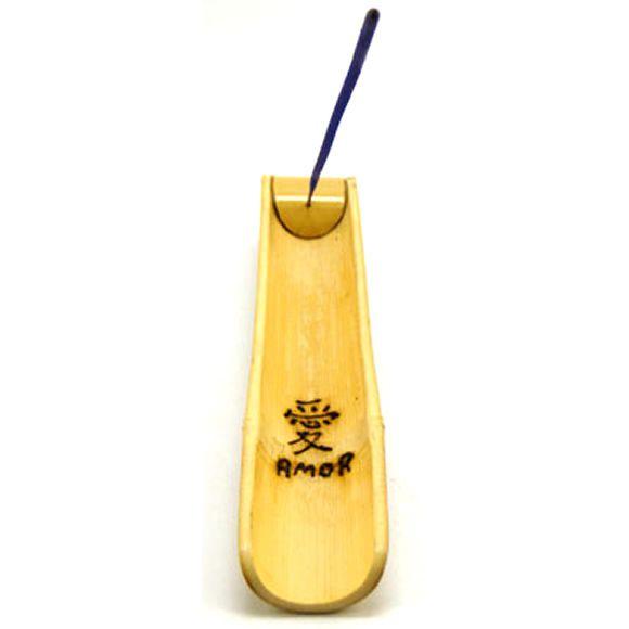 Incensário Artesanal Canaleta em Bambu (Amor)