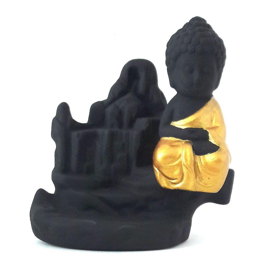Incensário Cascata com Monge da Concentração