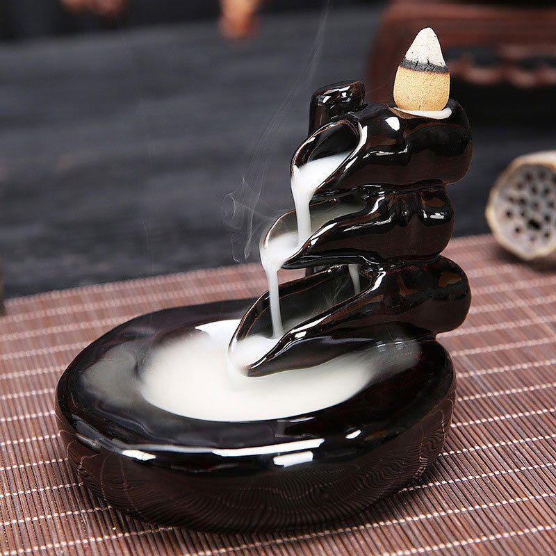 Incensário Cascata de Fumaça com 3 Quedas em Cerâmica