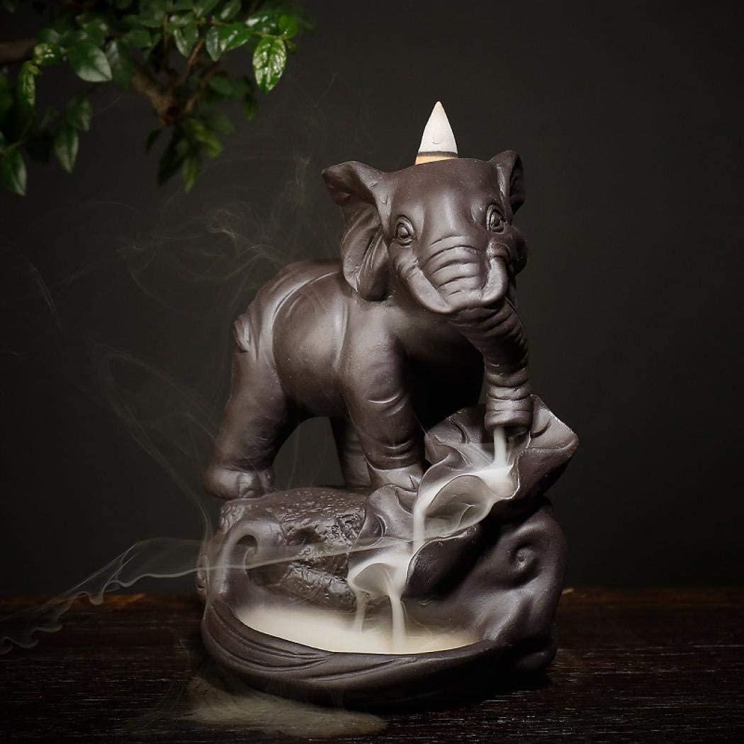 Incensário Cascata de Fumaça Elefante (17cm)