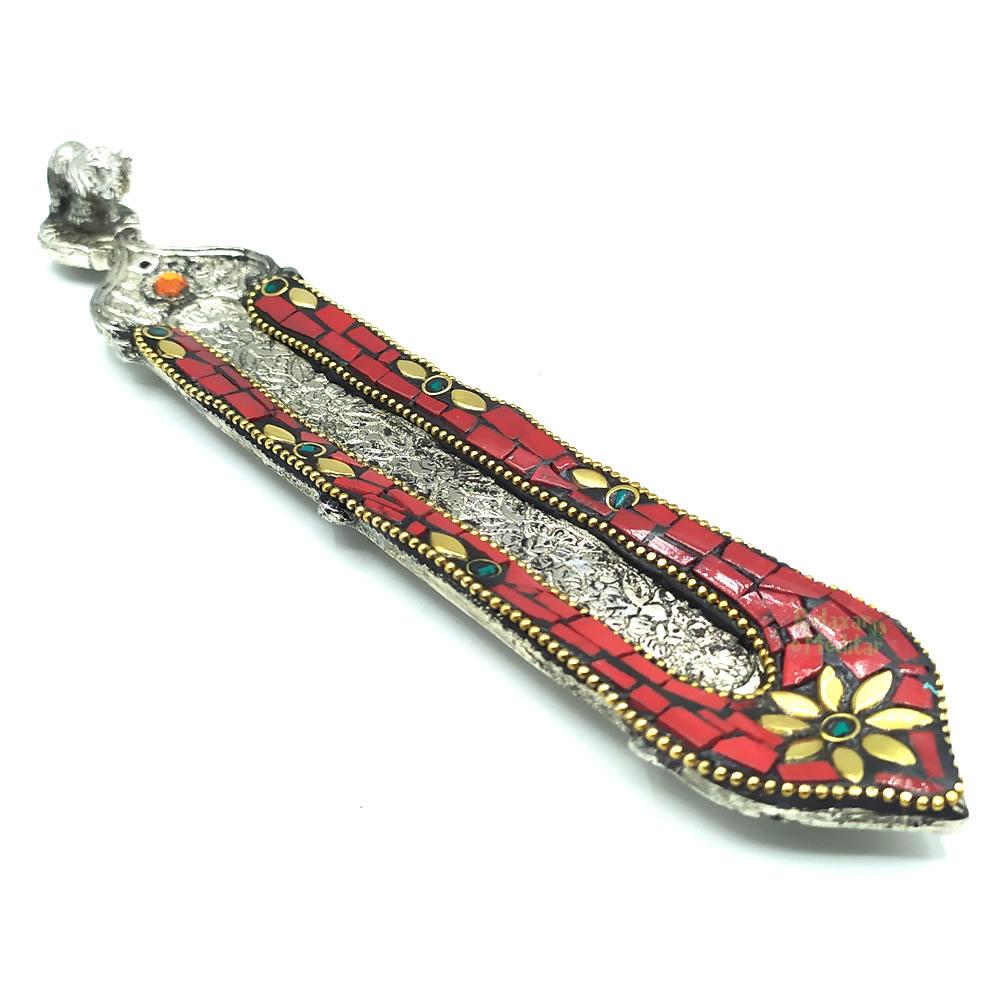 Incensário Indiano Artesanal Mosaico Colorido (Elefante)
