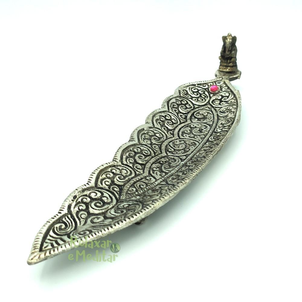 Incensário Indiano Pena de Metal (Ganesha)