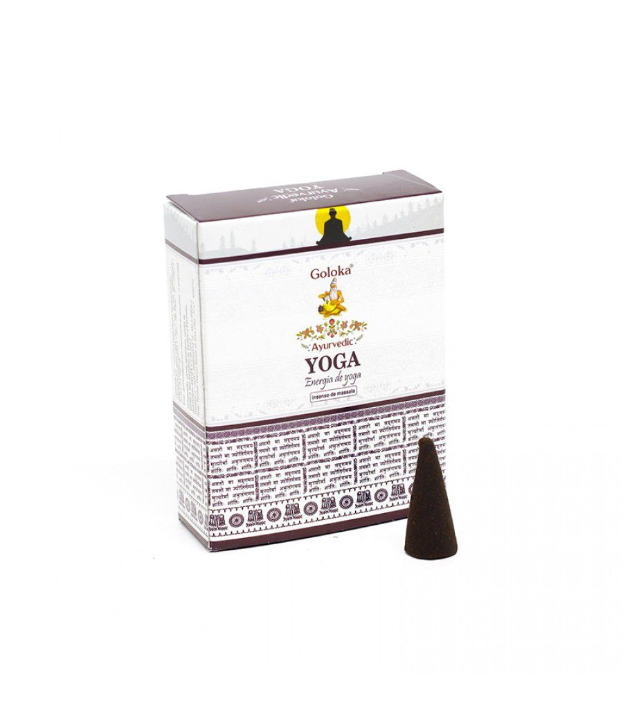 Incenso Cone Goloka Ayurvedic (Energia do Yoga)