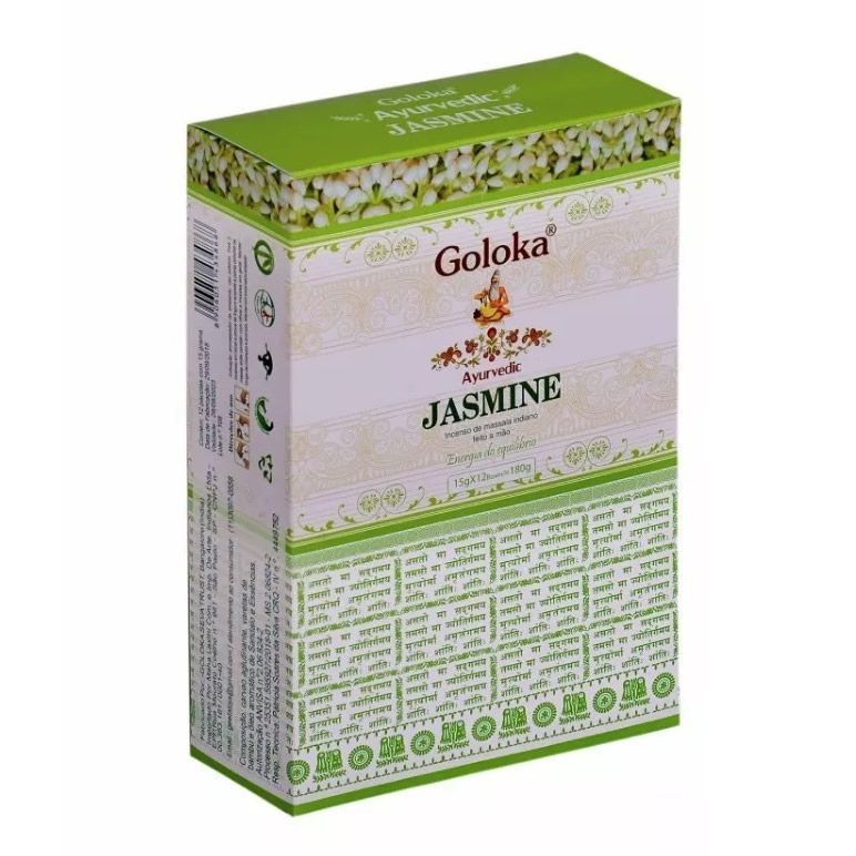 Incenso Cone Goloka Ayurvedic (Energia do Equilíbrio) Jasmim