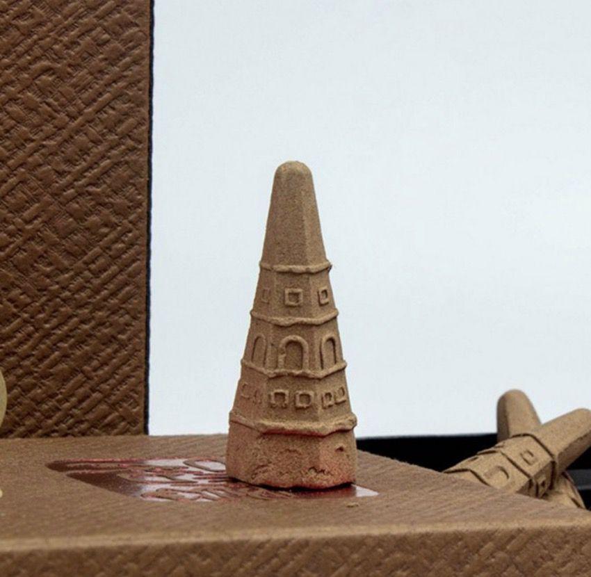 Incenso Cone Torre para Cascata de Fumaça (Madeira)