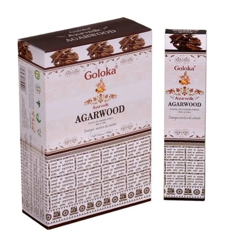 Incenso Goloka Massala Ayurvedic Agarwood (Energia Mística do Oriente)