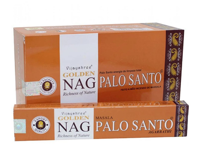 Incenso Indiano de Massala Golden Nag Palo Santo