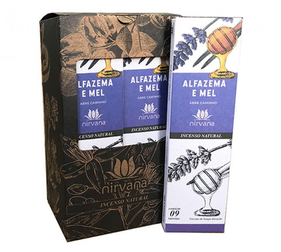 Incenso Natural Alfazema e Mel 100% Natural (9 Varetas)