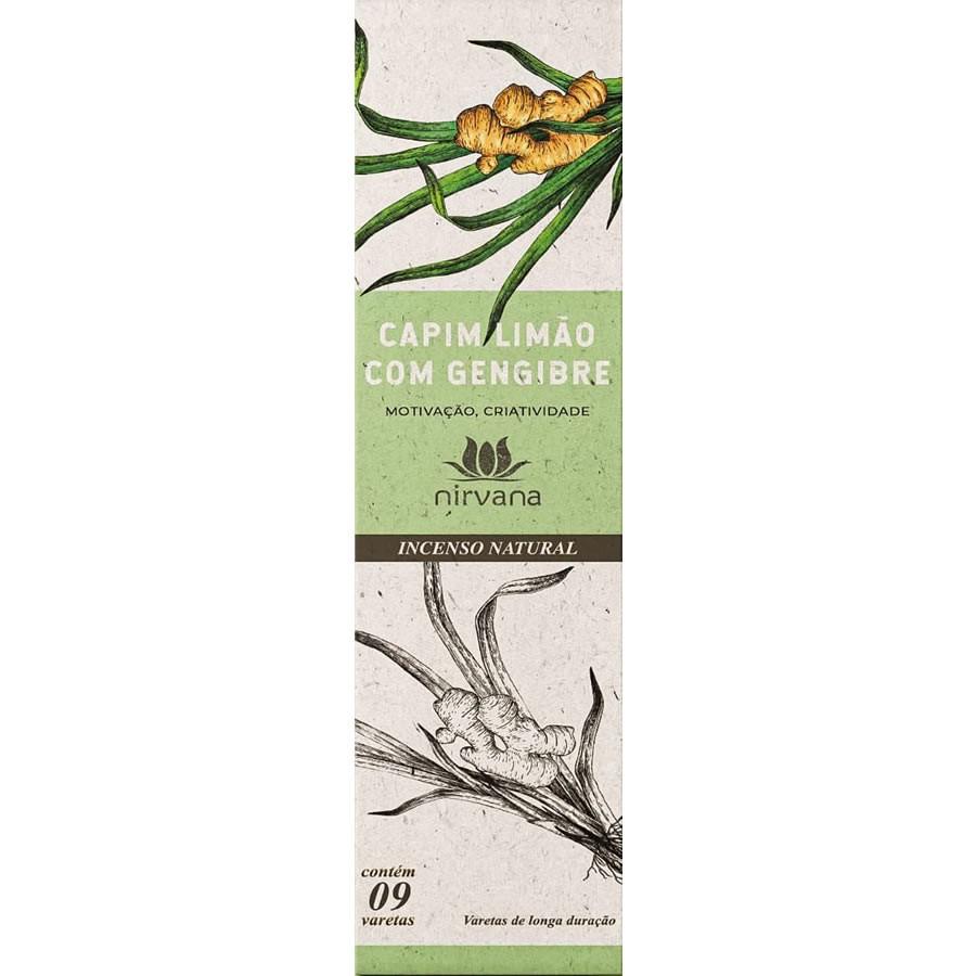Incenso Natural Capim Limão com Gengibre 100% Natural (9 Varetas)
