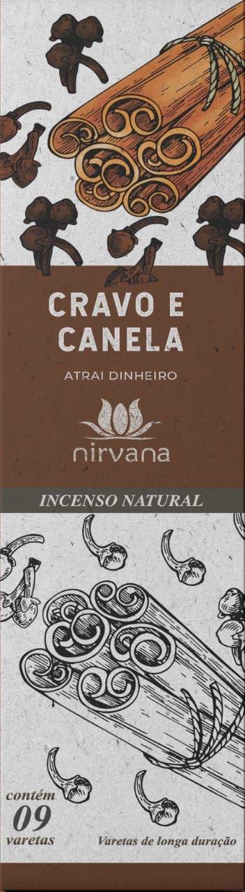 Incenso Natural Cravo e Canela 100% Natural (9 Varetas)