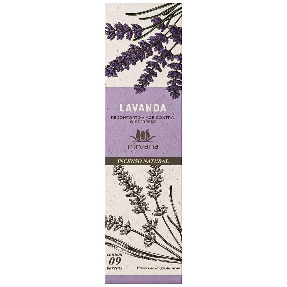 Incenso Natural Lavanda 100% Natural (9 Varetas)