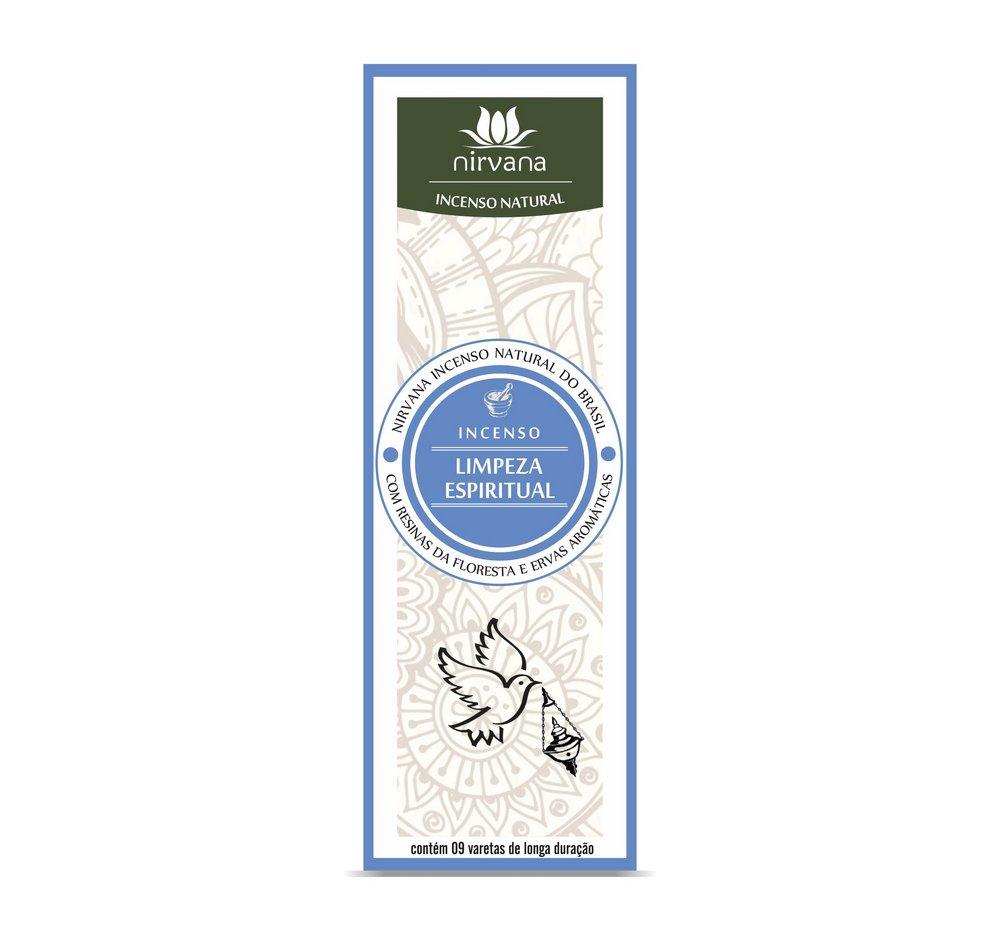 Incenso Natural Limpeza Espiritual 100% Natural (9 Varetas)