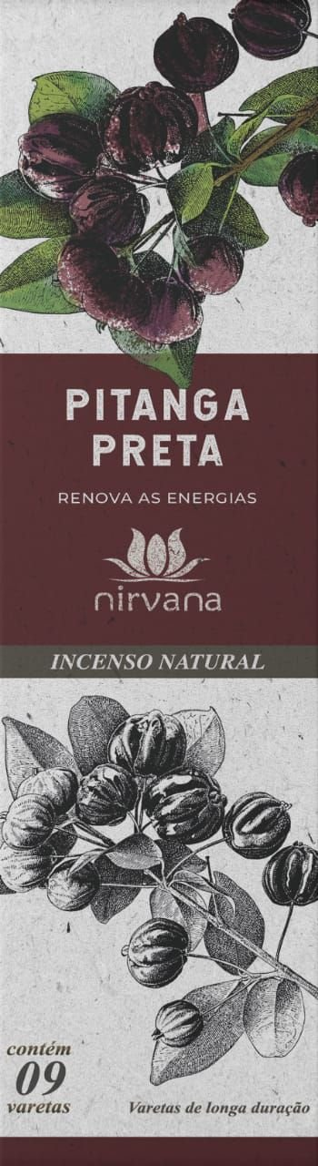 Incenso Natural Pitanga Preta 100% Natural (9 Varetas)