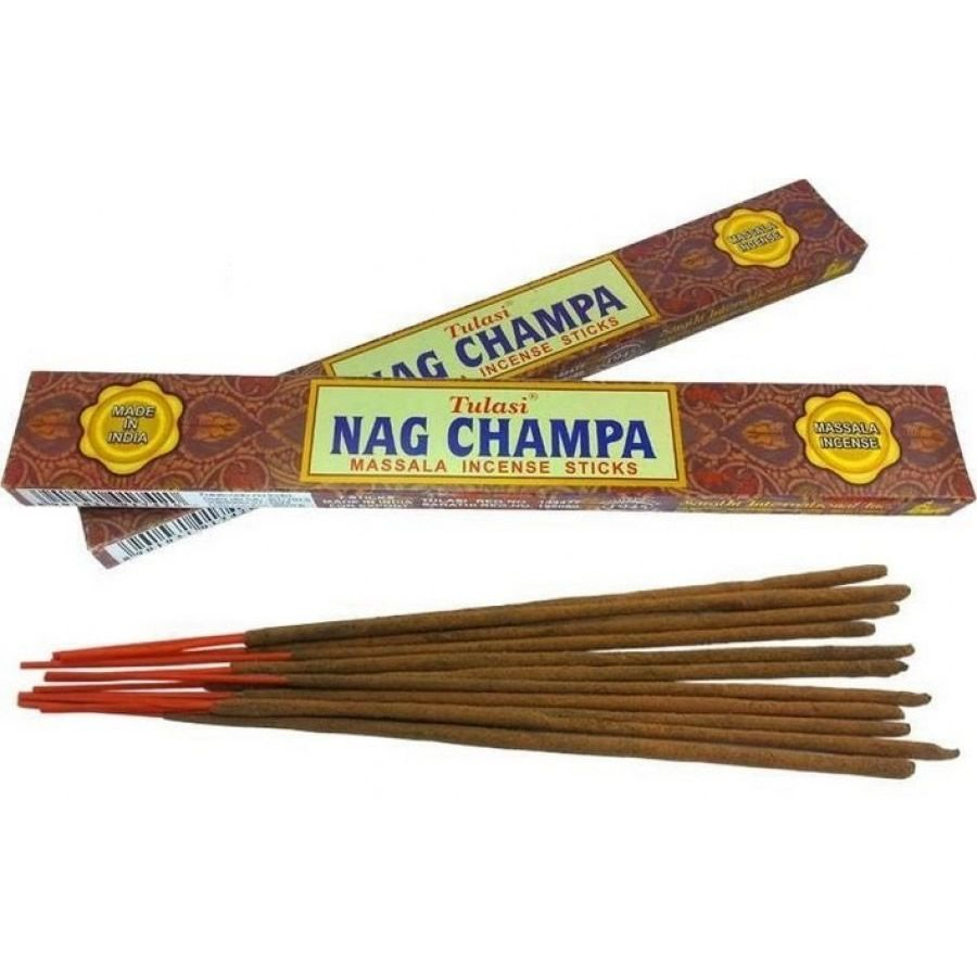 Kit com 2 Incensos Indianos Nag Champa Massala Tulasi