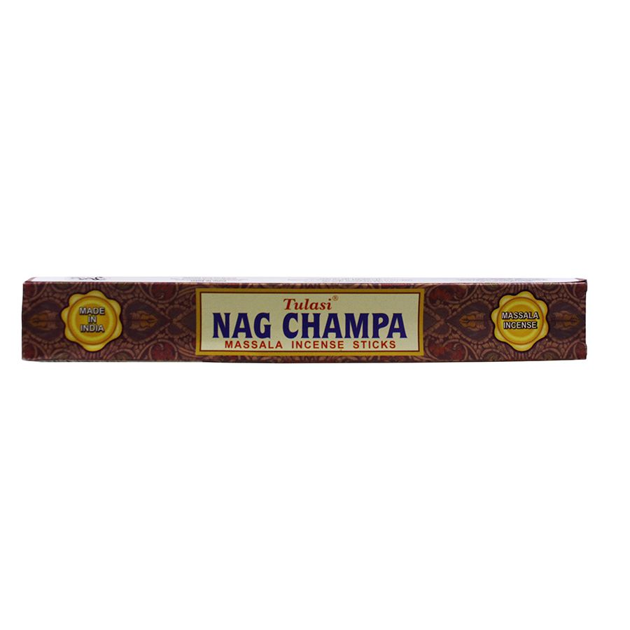 Kit com 3 Incensos Indianos Nag Champa Massala Tulasi
