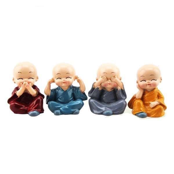 Kit com 4 Monginhos (Cego, Surdo, Mudo e Pensando)