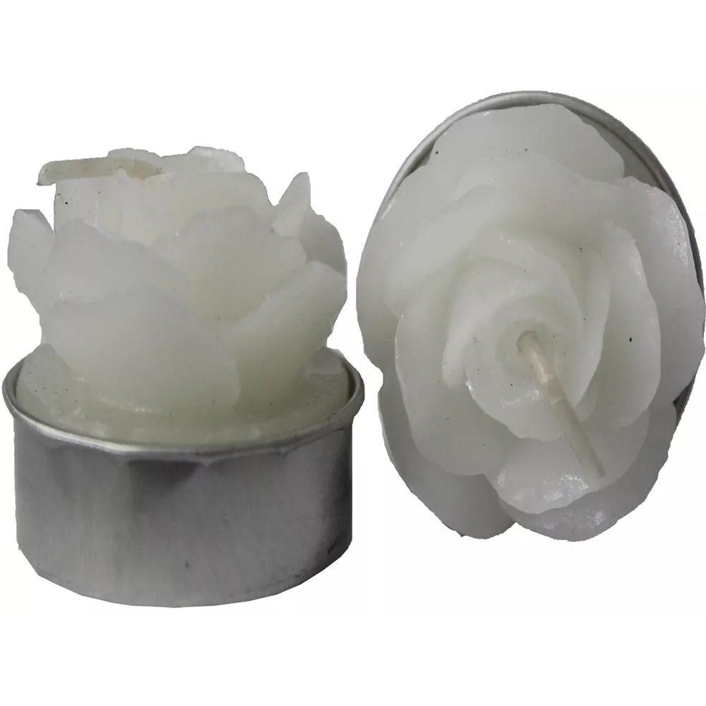 Kit com 6 Velas Aromatizadas (Rosas Brancas)