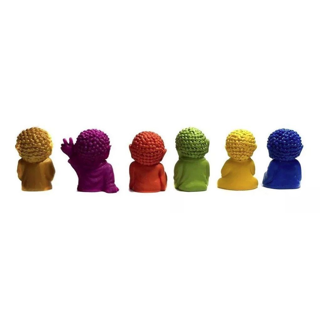 Kit com 6 Mini Buda Baby em Resina (4cm)