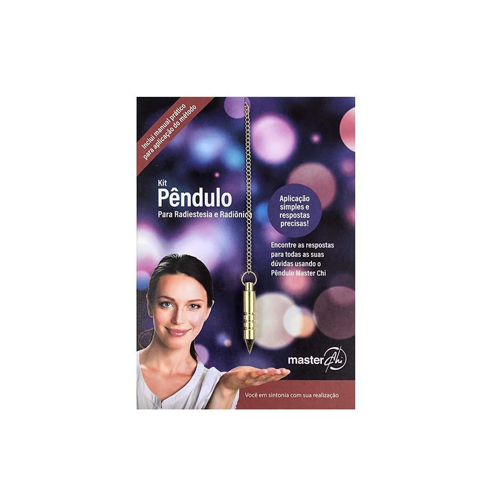 Kit Pendulo para Radiestesia e Radiônica (Dourado)