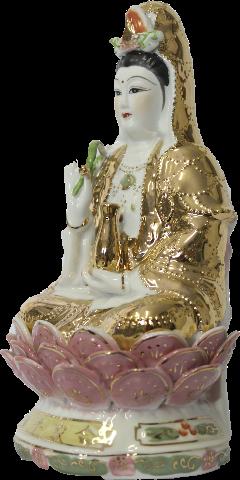 Kuan Yin Deusa da Misericórdia em Porcelana (50cm)