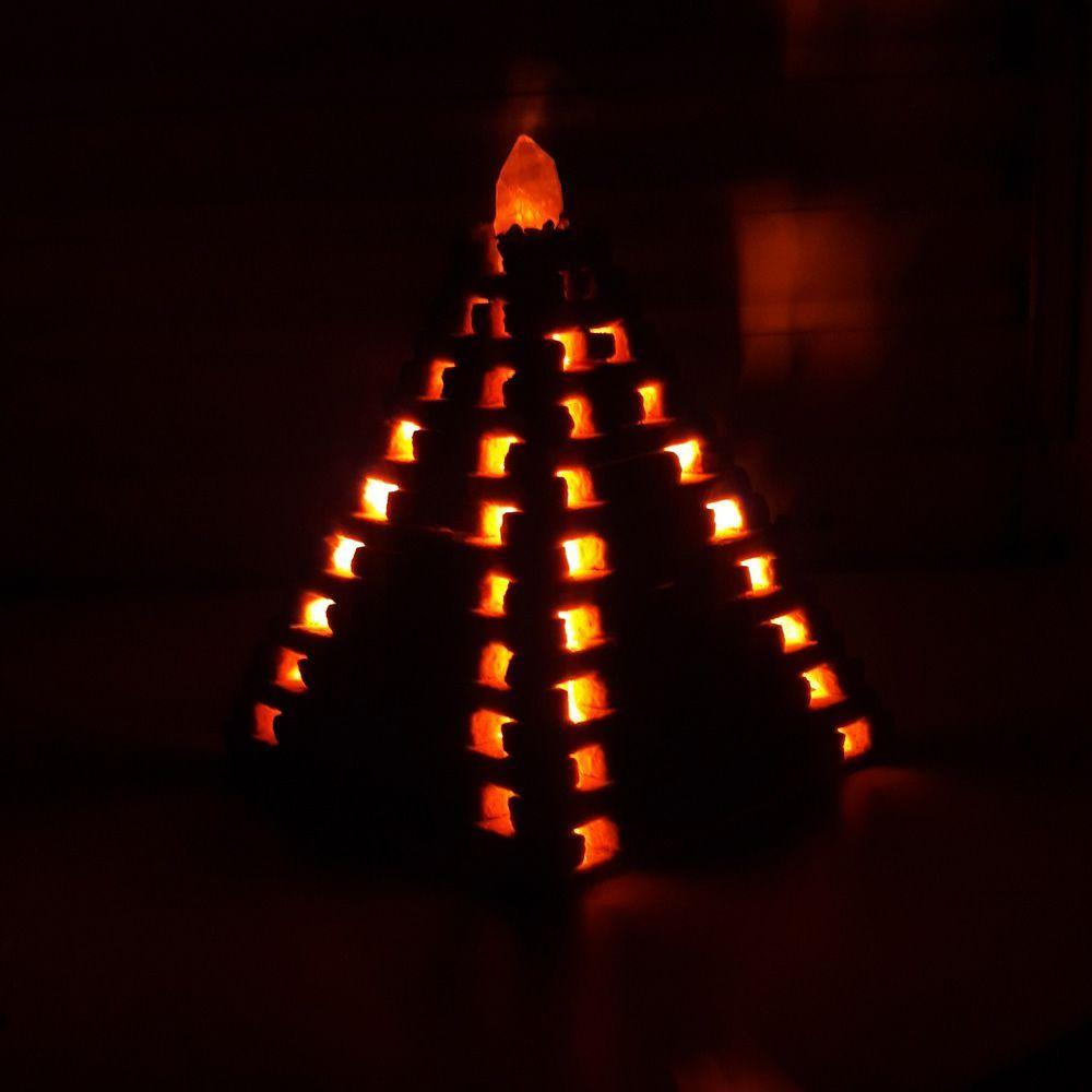 Luminária LED em Pedra Natural com Cristal (25cm)