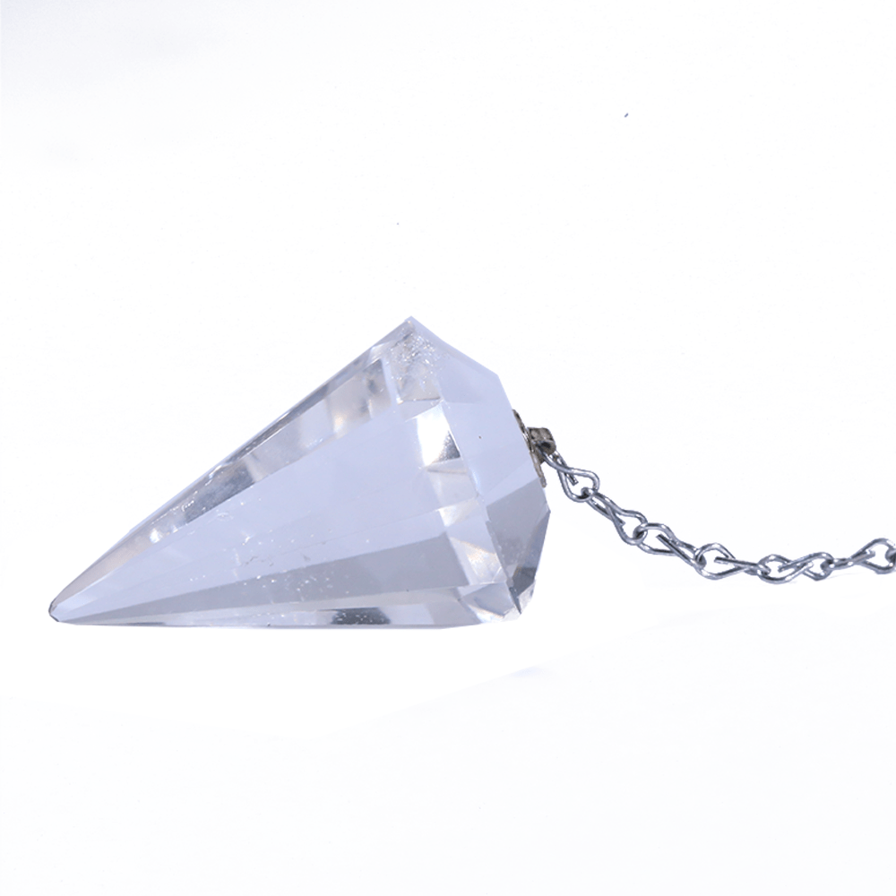 Pêndulo Facetado Cristal