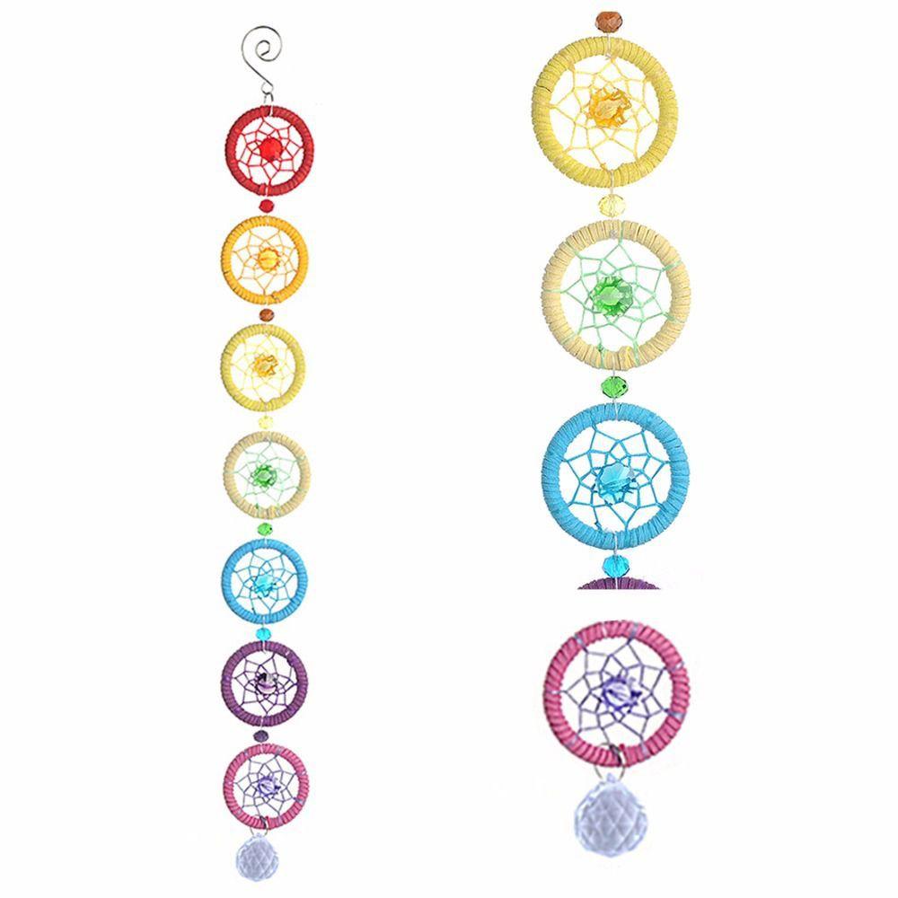 Penduricalho Filtro dos Sonhos 7 Chakras com Cristal (50cm)