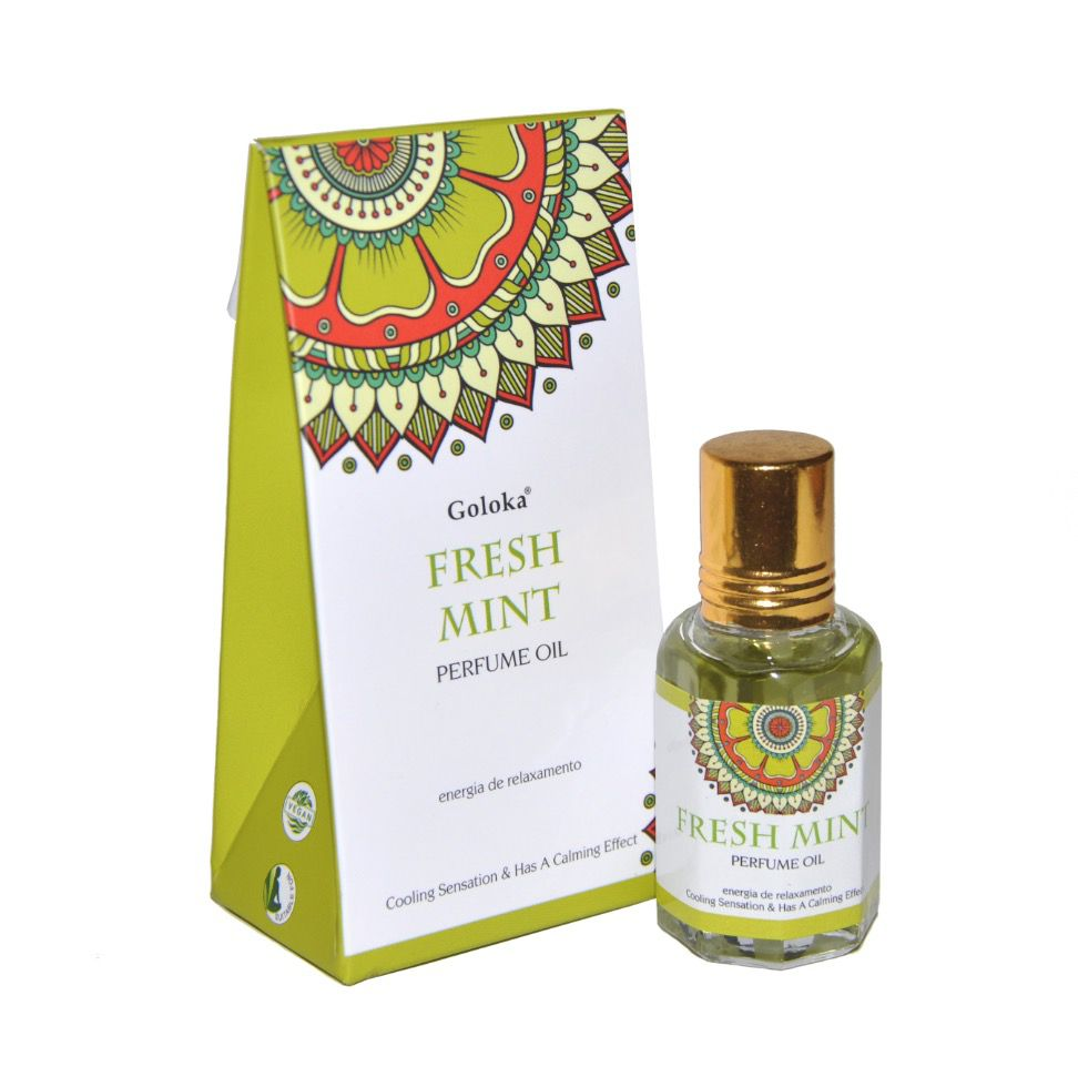 Perfume Indiano Goloka Fresh Mint (10ml)