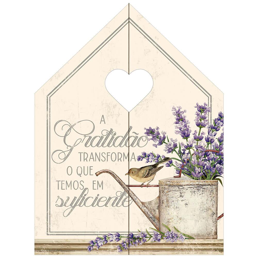 Placa Decorativa Casinha da Gratidão (15x20cm)