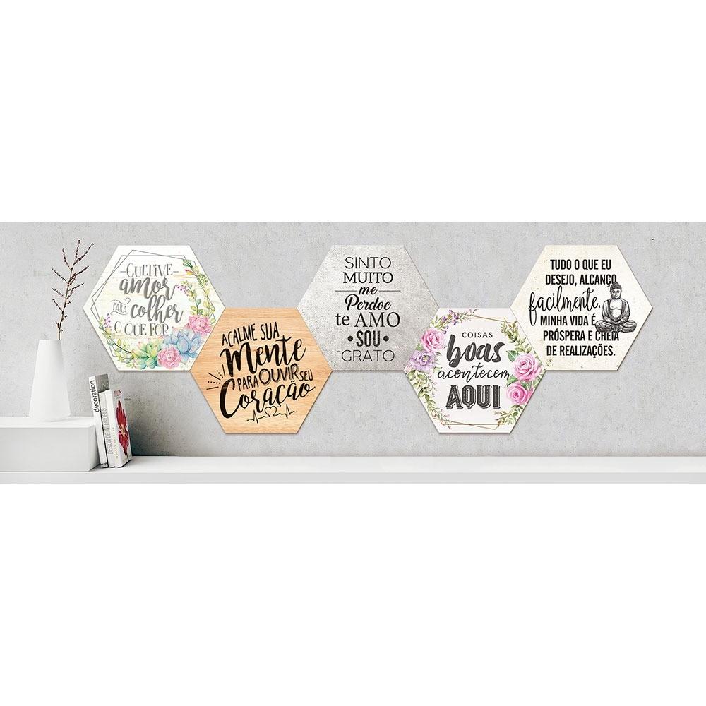 Placa Decorativa Cultive Amor para Colher o que for (25x22cm)
