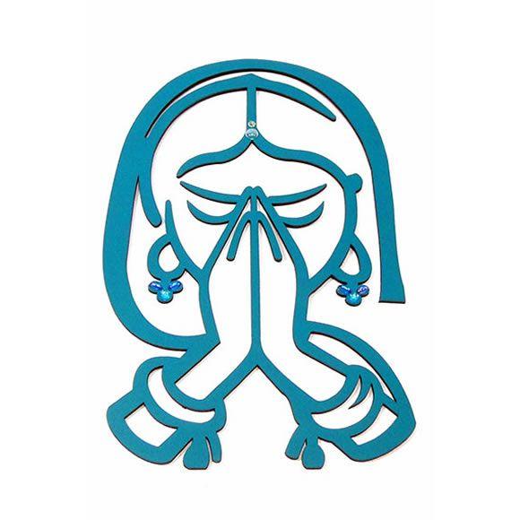 Placa Decorativa de Parede em MDF (Namastê)