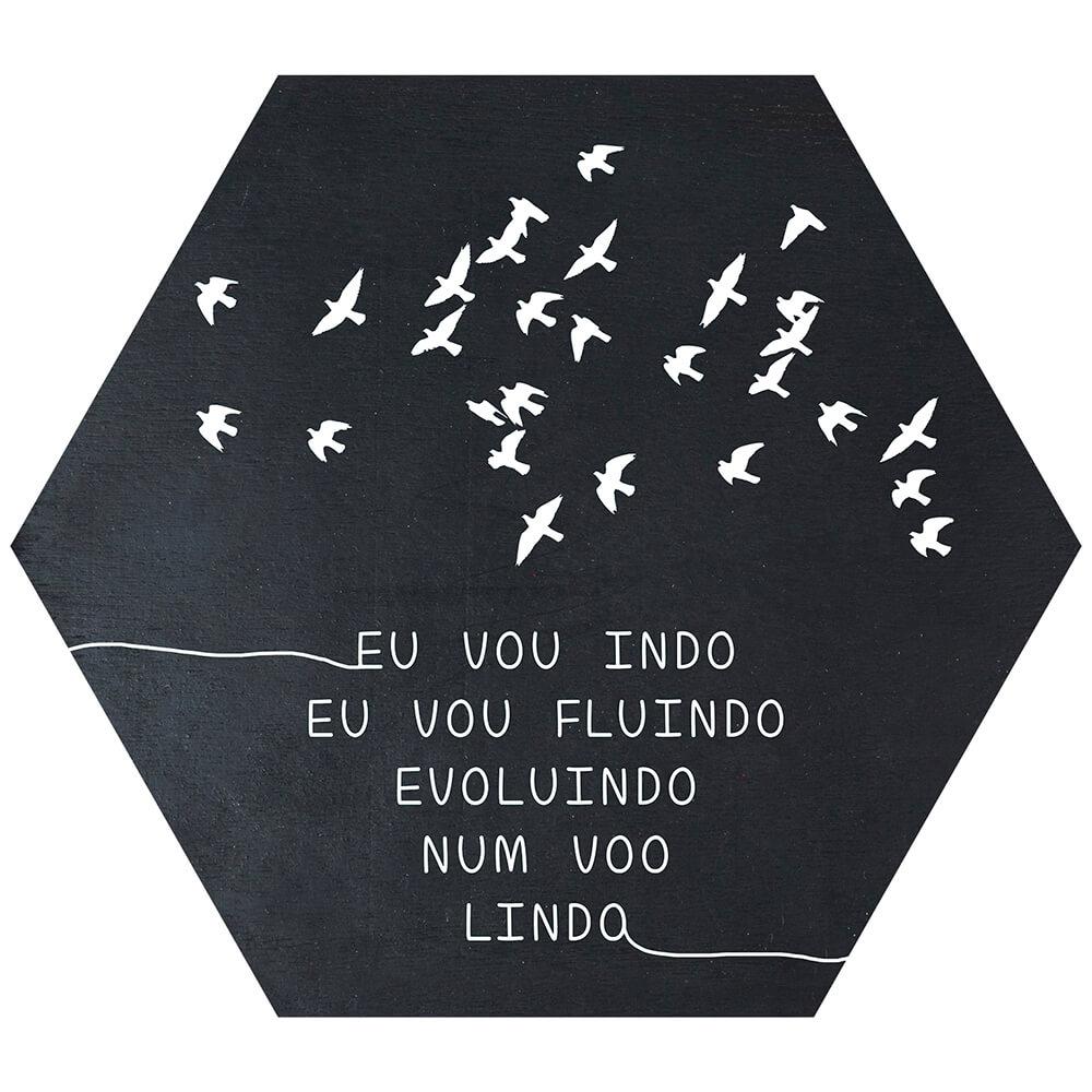Placa Decorativa Evoluindo (25x22cm)