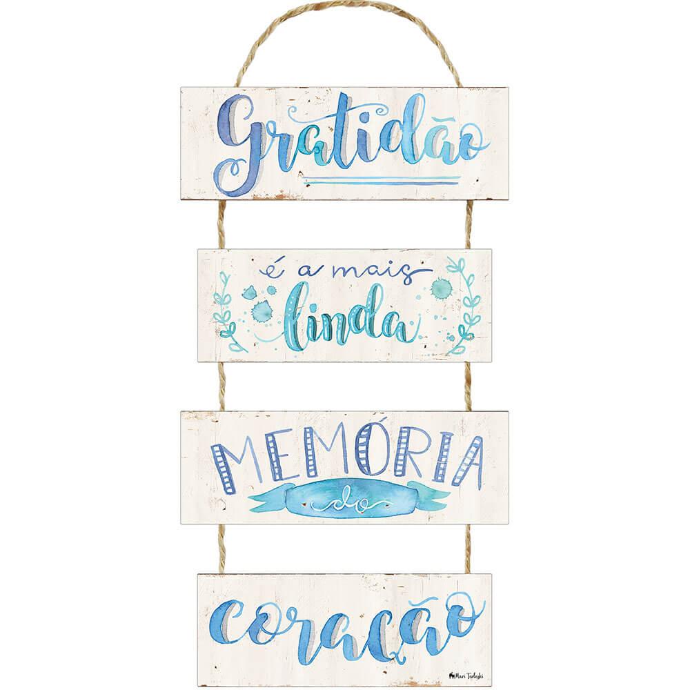 Placa Decorativa Gratidão (29x10cm)