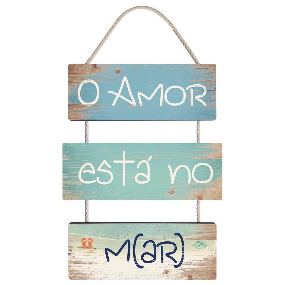 Placa Decorativa O Amor Está No M(AR) (22x66cm)