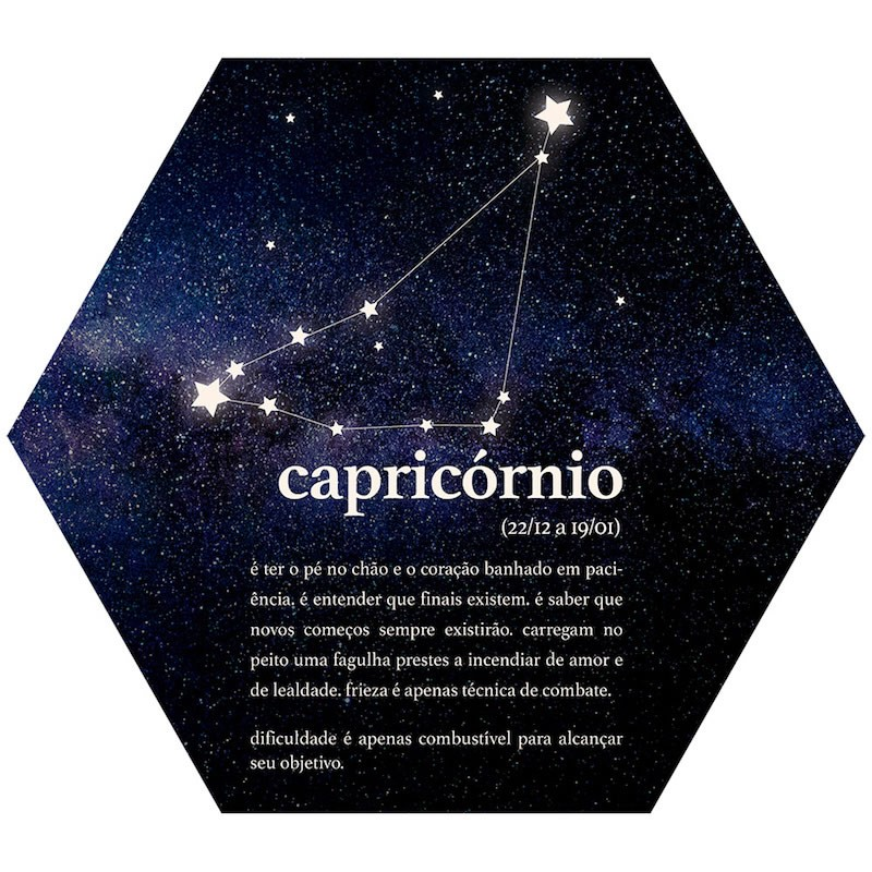 Placa Decorativa Signos: Capricórnio (22x25cm)