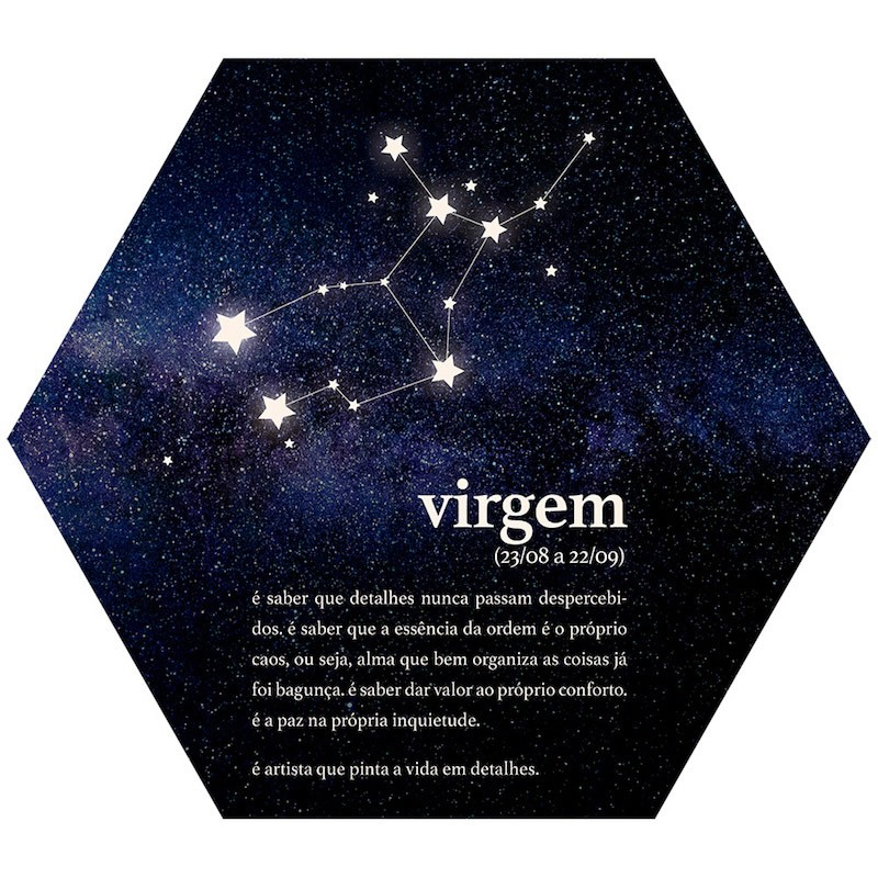 Placa Decorativa Signos: Virgem (22x25cm)
