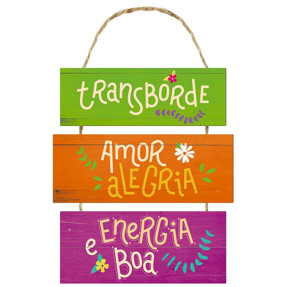 Placa Decorativa Transborde Amor (25x42cm)