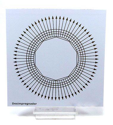 Placa Radiônica Desimpregnador (PVC)