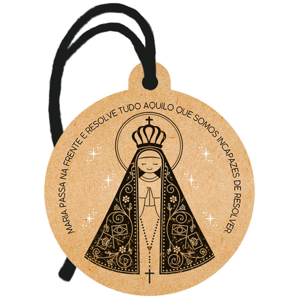 Placa TAG em MDF Santa Maria Aparecida (8x9cm)